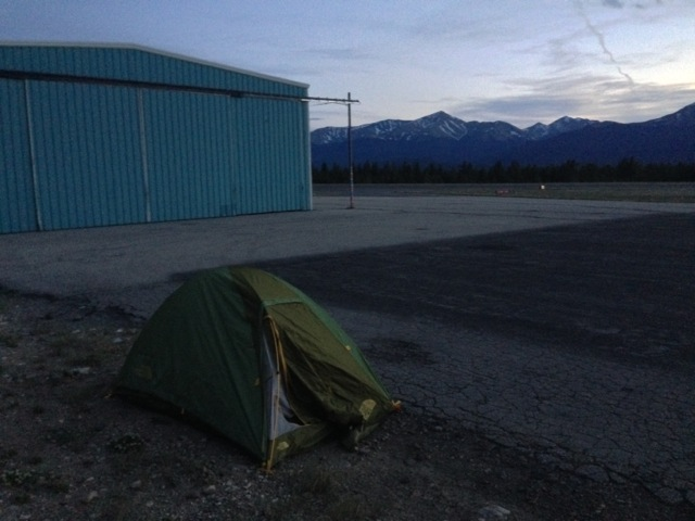 Camping by the hangar